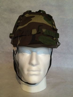 Plastic M1 Helmet with Green Camo Cover